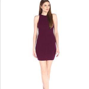 Rebecca Minkoff Purple Jenn Ribbed Bodycon Dress